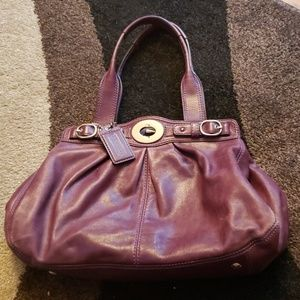 Dark purple coach purse